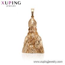 33581xuping Long barba velho figura estátua religiosa pingente desenhos