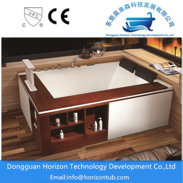 2 person corner apron bathtub