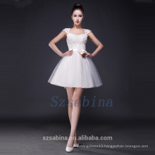 2017 high end lovely simple sweetheart white short evening dress with beading