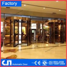 Гуанчжоу 2 3 4 Крылья Автоматическая поворотная дверь алюминиевая рама или бескаркасная с Германией