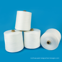 AAA Grade paper cone raw white 100% polyester yarn 60/2