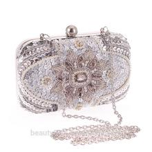 El bolso al por mayor del embrague de las señoras del bolso de embrague de la señora rebordeó el bolso de embrague cristalino DB08