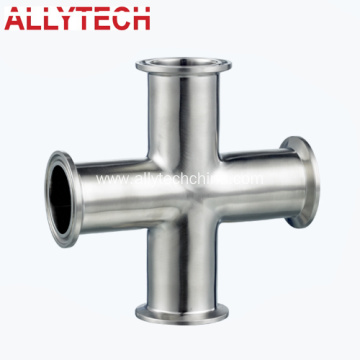 Stainless Steel Clamped Cross Pipe Fittings