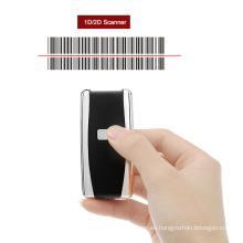 Escáner de código de barras portátil Mini Mobile Bluetooth 1D 2D