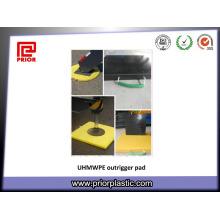 PE-UHMW Blatt für Outrigger Pads in 400X400mm