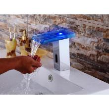 Torneira fria e quente automática LED Glass