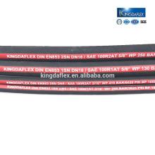 Tuyau flexible hydraulique en caoutchouc de machines chimiques à haute pression SAE100R1AT