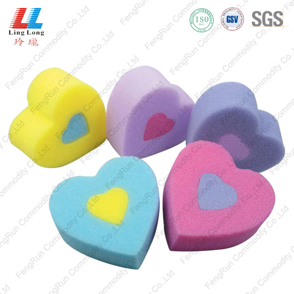 heart shape sponge