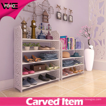 Plastic-Wooden Stacking Display Shoe Cabinet Storage Shelf