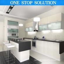 European Style L Shape Classic Design PVC Küchenschrank