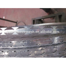 BTO22 razor wire factory hot dipped galvanized fake razor wire