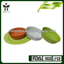 Conjunto de vajilla de camping de fibra de bambú