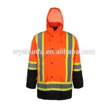 CSA Z96-09 chaqueta reflectante norma, cintas de alta visibilidad con tirantes contrastantes