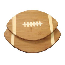 Unique Rugby Shape Bamboo Cutting Board