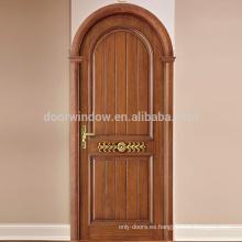Puertas de roble rojo importadas americanas Panel de madera Casa de lujo Interior de un dormitorio Puerta de madera