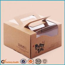 Fancy Cake Packaging Box Papel Kraft