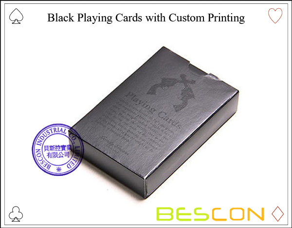 Black Playing Cards with Custom Printing-2