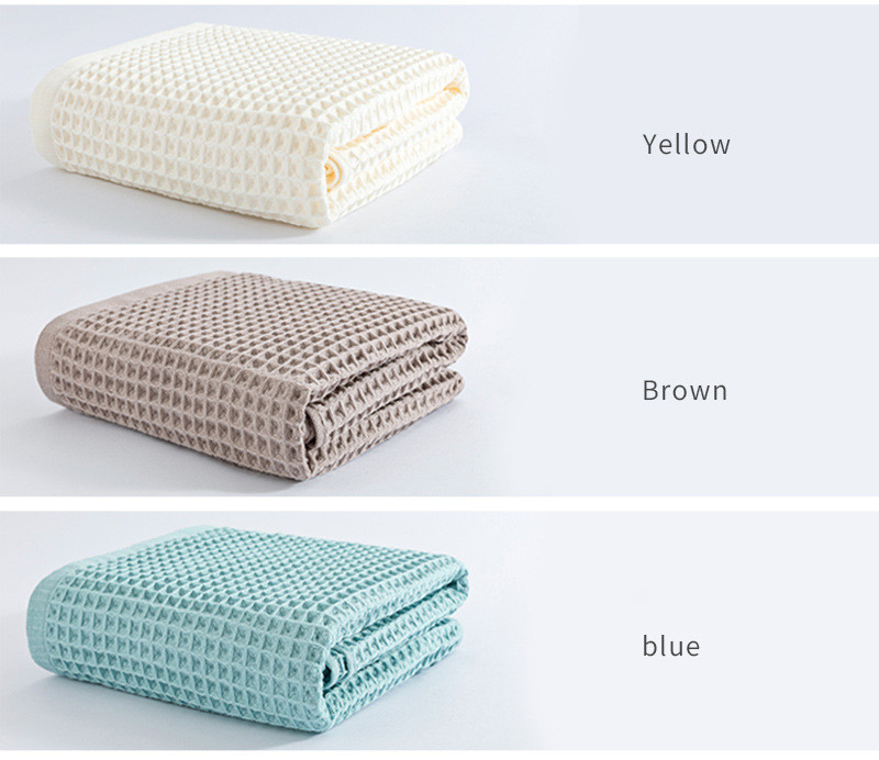 Cotton mesh lightweight dry waffle adult bath towel (3)