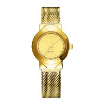 Дамы Наручные Часы Мода Чистая Кольцо Золото Электро Позолоченные Часы