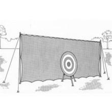 Ditenun tugas berat Backstop memanah Netting putih