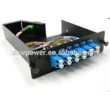 MPO LGX Cassete LC SM Duplex Cordoalha de fibra óptica de 12 fios