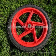 Rueda sólida plástica de 14 pulgadas / rueda de bicicleta plástica