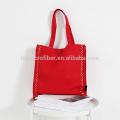 Simples design fino preço mulheres saco de compras de lona