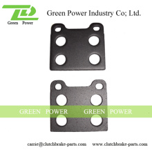 Q235 Stahl Material Rückseite Platte Bremsbelag