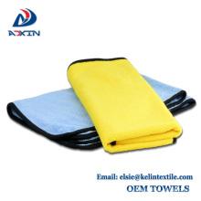 Toalla de microfibra de microfibra de secado rápido extra absorbente para el paño de limpieza del coche