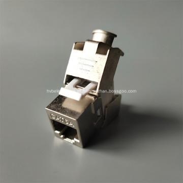 Jack de fundição de zinco CAT6A Keystone