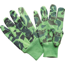Camouflage Jersey Work Glove Mini Dotted Knit Wrist-2201