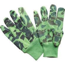 Camouflage Jersey Work Glove Mini Dotted Knit Wrist-2201