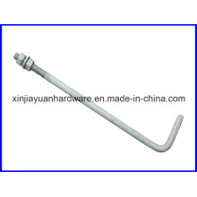 Plain/Galvanized L Type Foundation Bolt for Construction