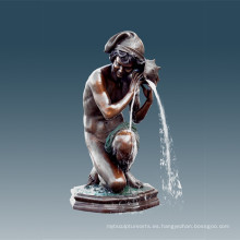 Estatua Grande Pequeña Fuente De Pescador Escultura De Bronce Tpls-012