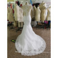 Sirena vestido de novia de dos piezas barrido / cepillo tren joya encaje vestido nupcial P107