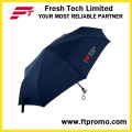 Пользовательский 3-х складной ручной открытый зонтик с трафаретной печатью