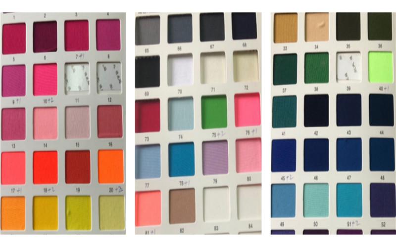 Color Charts 4 stretch fabrics