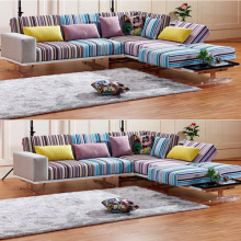 Left Arm Stoff Chaise Sleeper Sektionalsofa