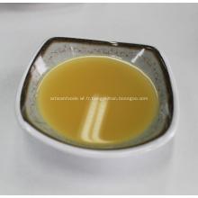 Gelée de thé de jus de gingembre jaune couleur