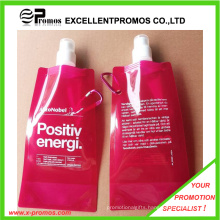 480ml or 16oz Portable Foldable Plastic Water Bottle (EP-B7154S)