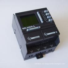 PLC de la automatización industrial del control análogo de alta velocidad del bajo costo de Sr-12mrdc, regulador lógico programable