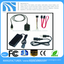 USB to IDE SATA Cable with Power FOR DVD NOTEBOOK DESKTOP 2.5 3.5 HDD
