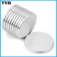 Ni-Cu-Ni Coating N50 Strong NdFeB Disc Permanent Magnet