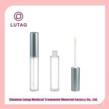 Tubo de brilho labial vazio com tubos de gloss labial pincel embalagens