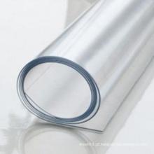 Folha transparente macia do PVC para a coberta de tabela