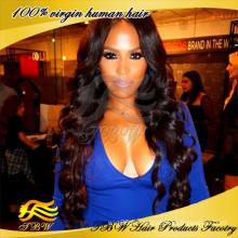 Meilleure Qualité 7A Grade En Gros Cheveux Humains Vierge Brésilienne Cheveux Full Lace Wig
