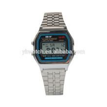 Venda quente impermeável LCD multi-função digital watch