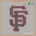 SF 49ers hot fix iron on rhinestone transfer