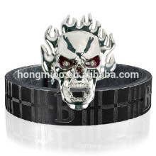Fire Skull metal belt Person Rock Punk belt Night Club performance show belt dance belt