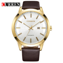 curren vintage antique watch genuine leather belt